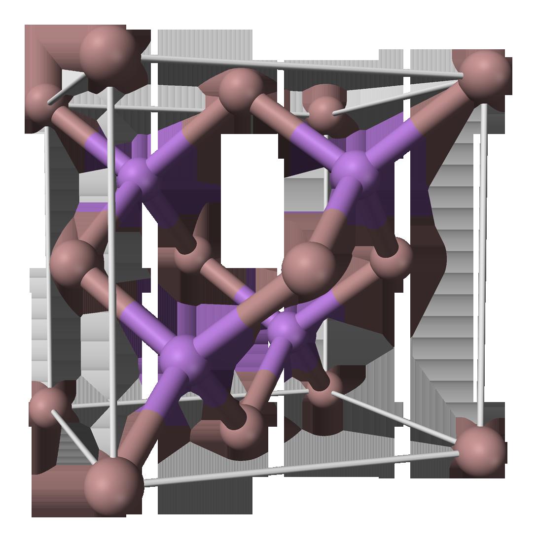 Crystal clipart silicon. Gallium arsenide wikipedia