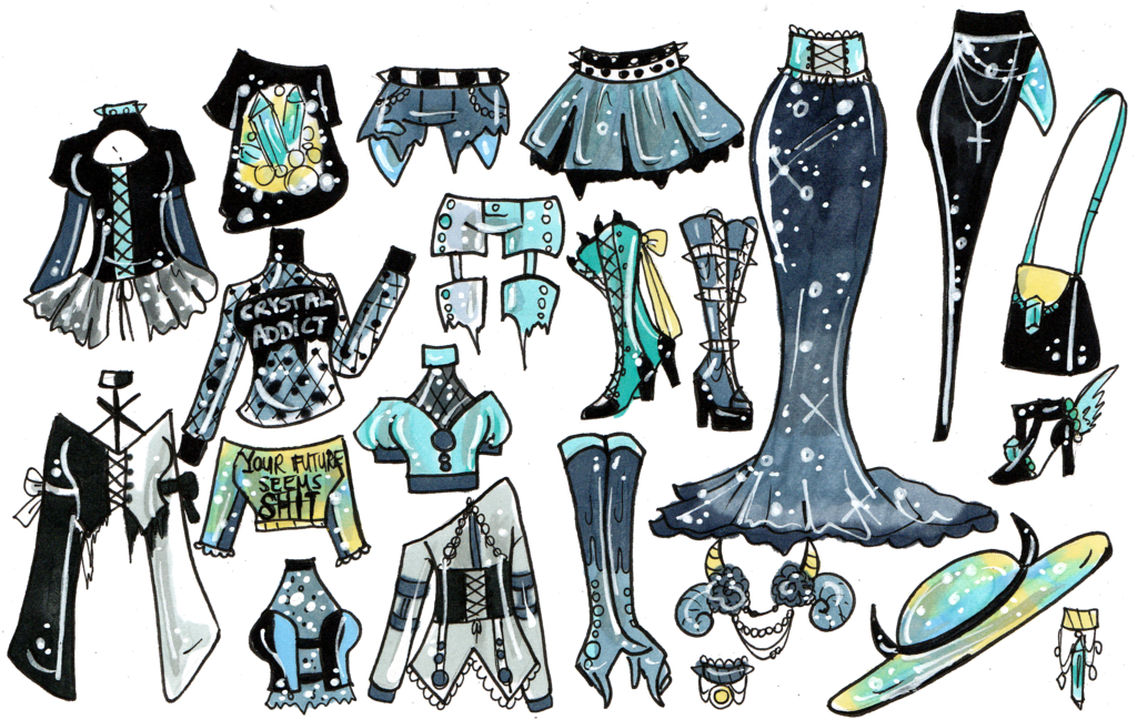 Witch closed mix and. Crystal clipart sketched