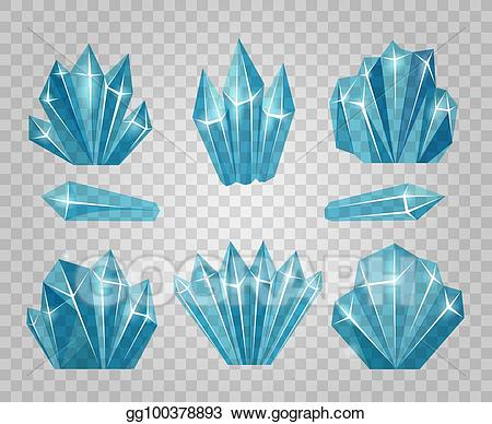 Vector illustration crystals isolated. Icicles clipart ice crystal