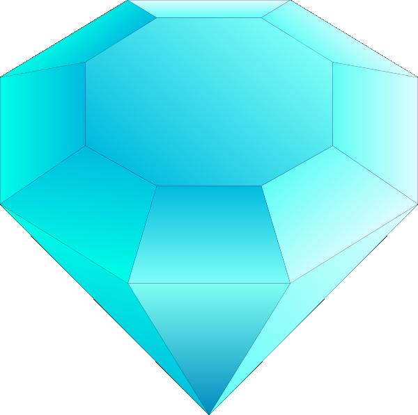 Gem clipart svg. Blue cut gemstone saphire