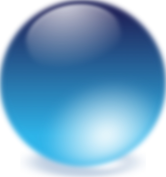 Crystal clipart vector. Blue cristal ball clip