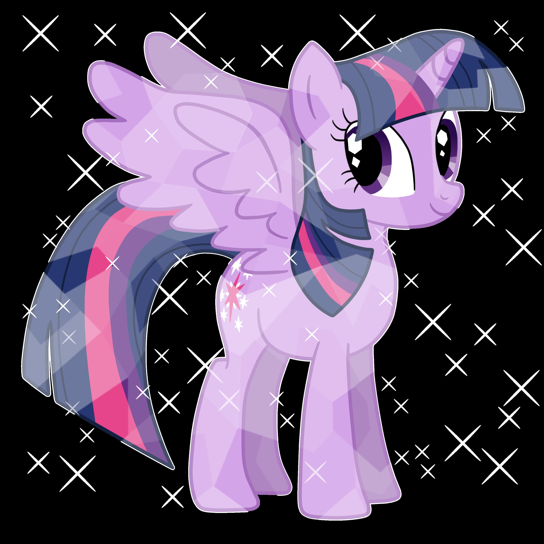 Crystal clipart vector. Alicorn princess twilight as