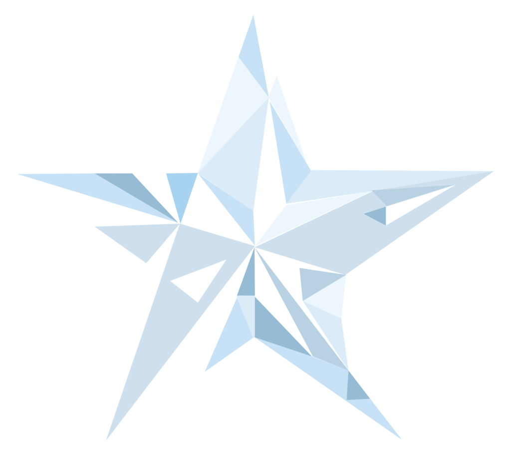 Crystal clipart vector. Star done in via