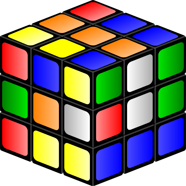 Cube clipart. Rubiks clip art at