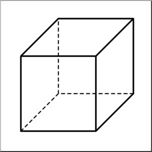 Cube clipart. Clip art d solids