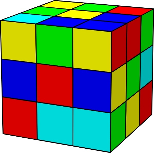 Rubik clip art free. Cube clipart