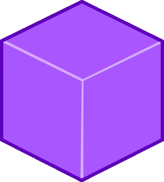 D cube clip art. Square clipart purple