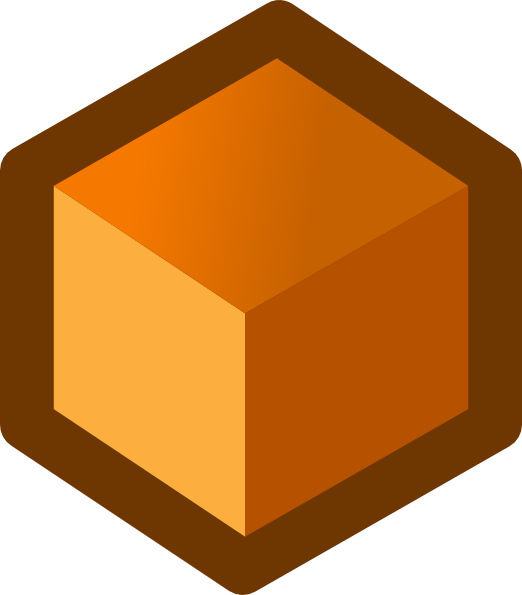 Cube clip art at. Square clipart orange