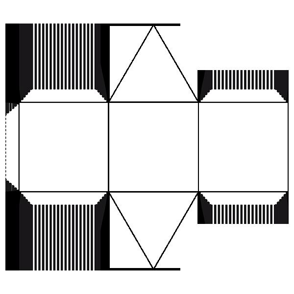Geometry clipart 3d shape. Prism d nets of