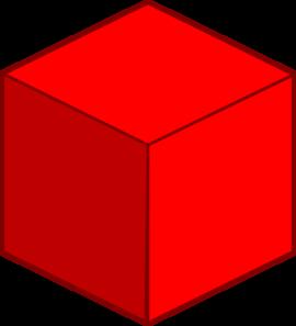 Big red clip art. Cube clipart