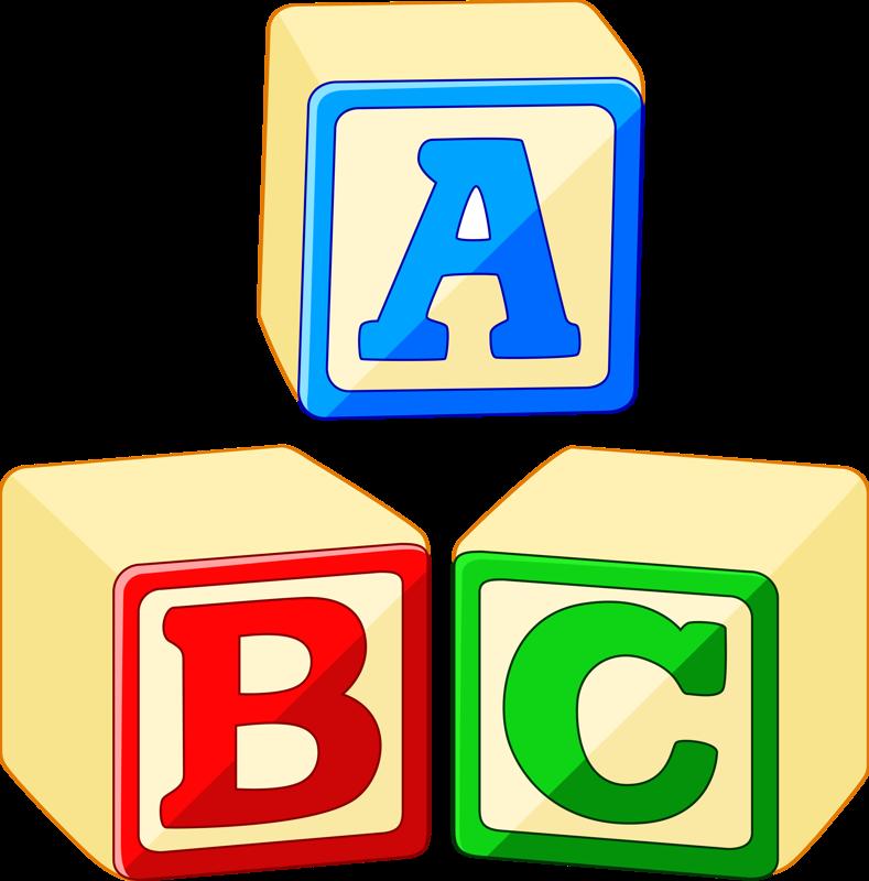 Cube clipart abc. Toy block alphabet stock