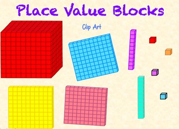 Place value blocks block. Cube clipart base ten
