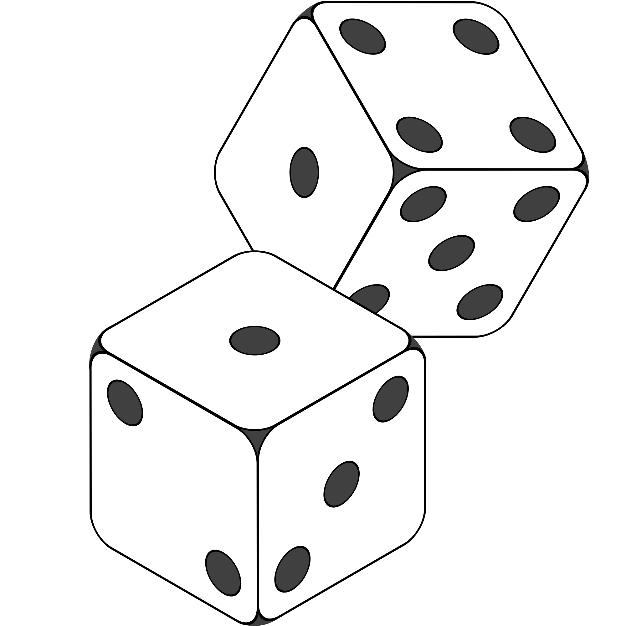Number dice black and. Domino clipart sketch