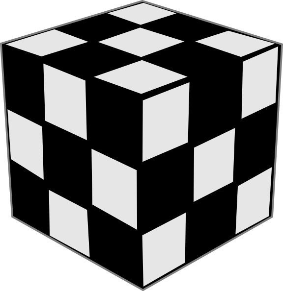Square clipart black and white. Rubik cube clip art