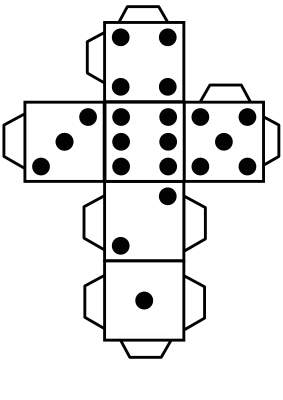 Printable die dice by. Game clipart backyard game