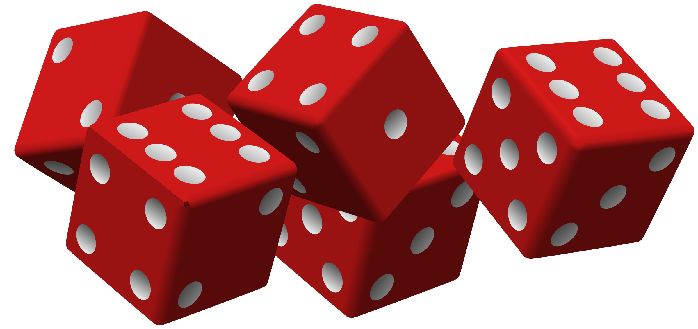 Dice transparent pictures icons. Royalty free png images