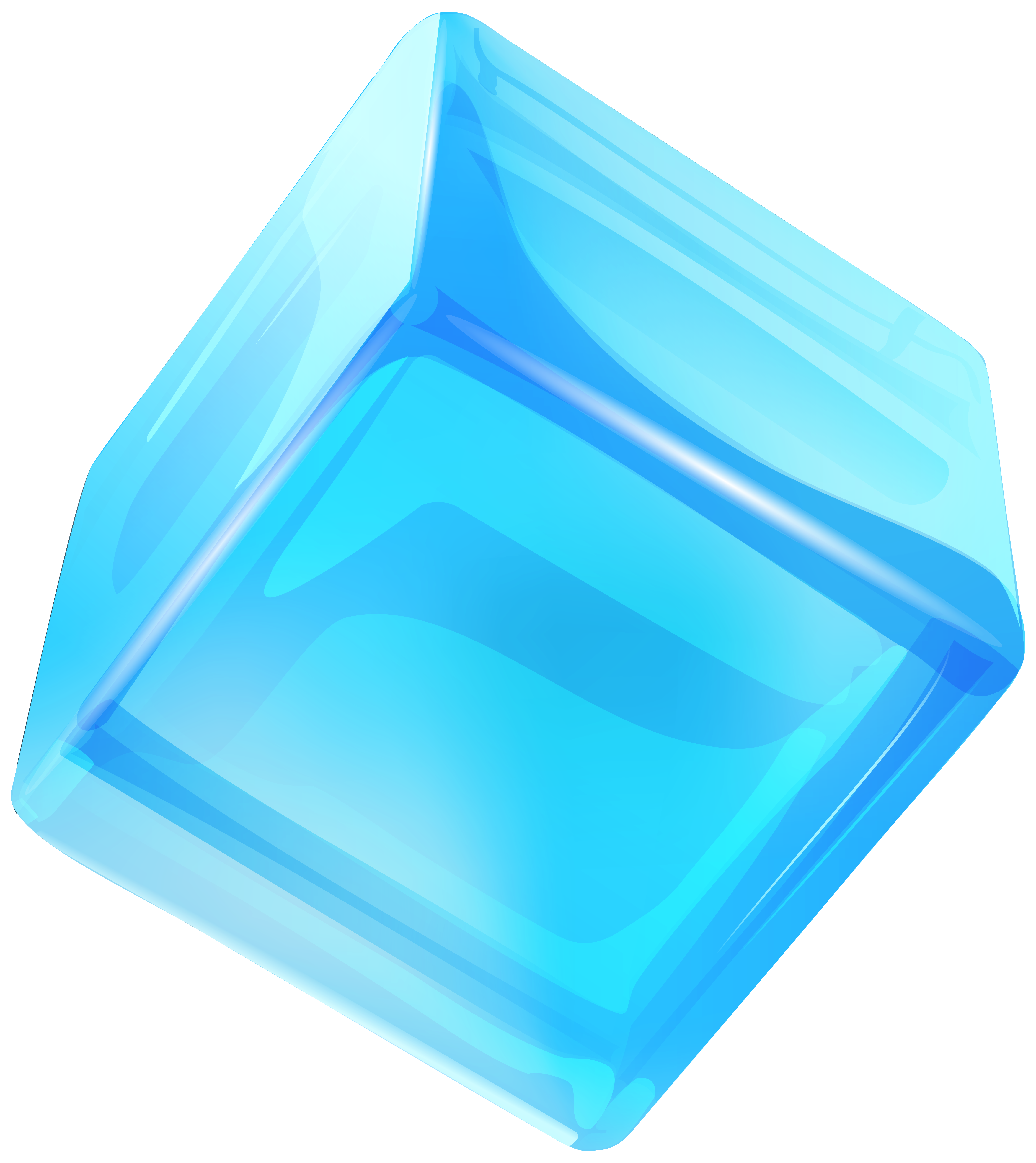 Blue cube png clip. Ice clipart ice box