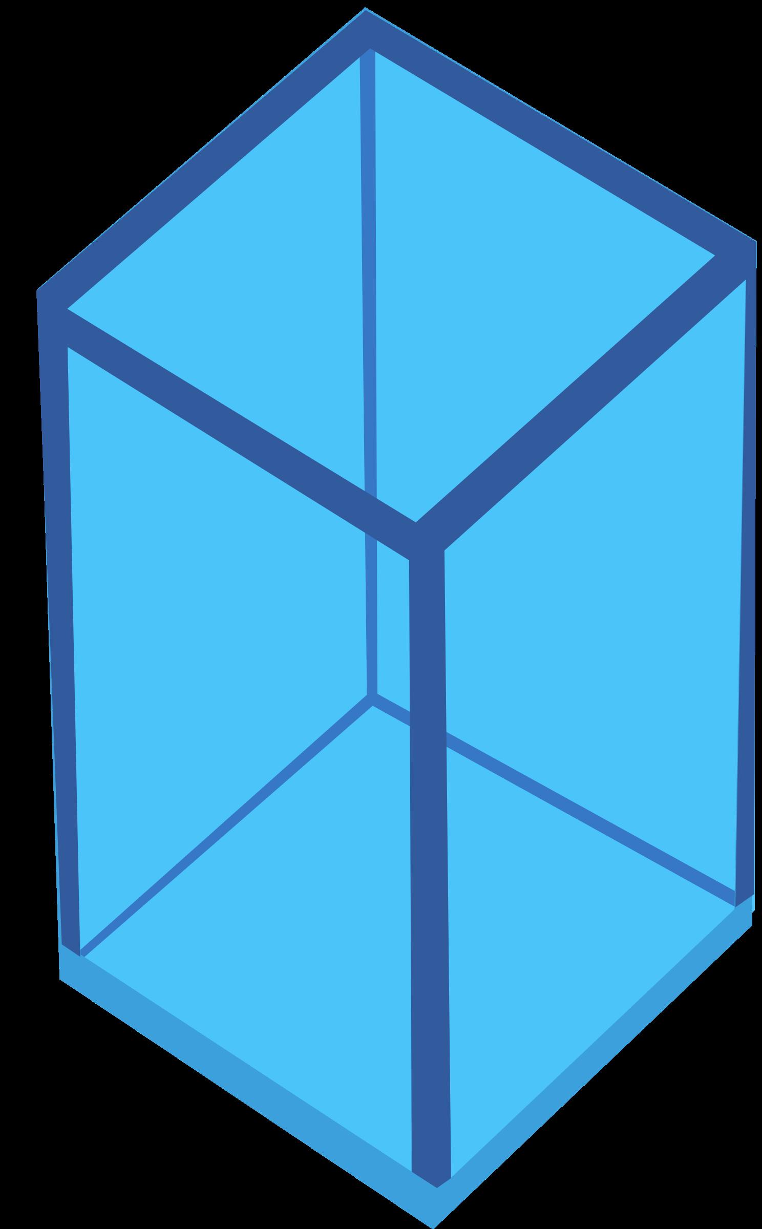 Cube blue cube