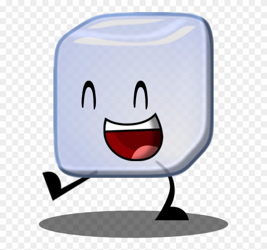 Ice object smiling . Cube clipart cartoon