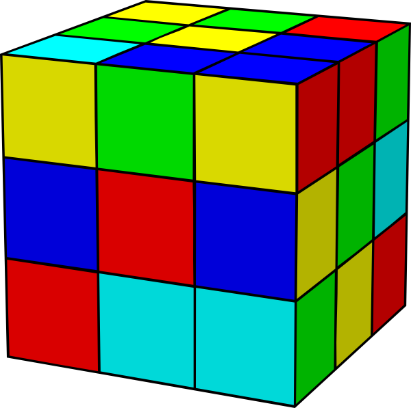 Cube clipart cartoon. Rubik clip art at