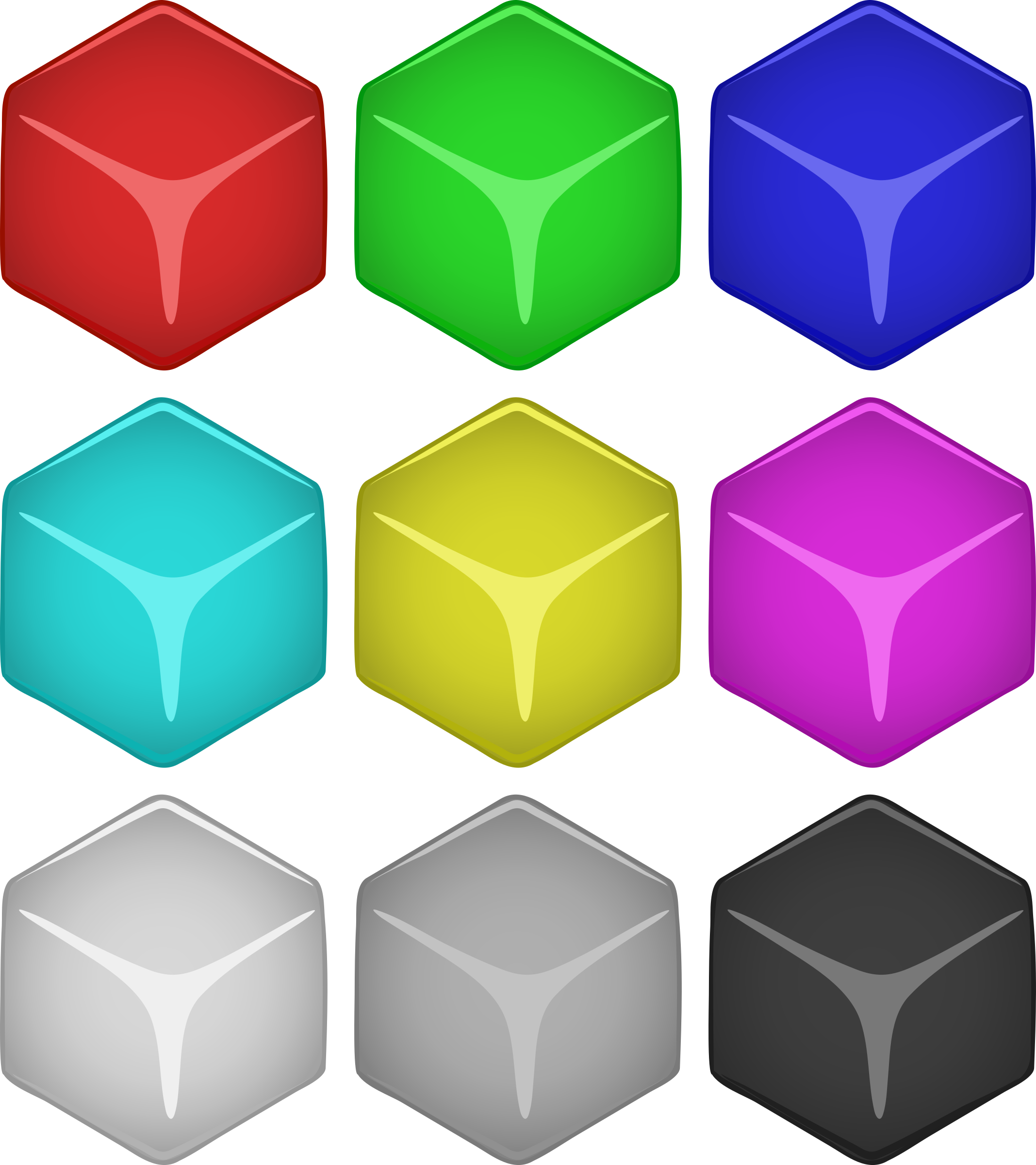 Jelly clipart single. Cube colored block free