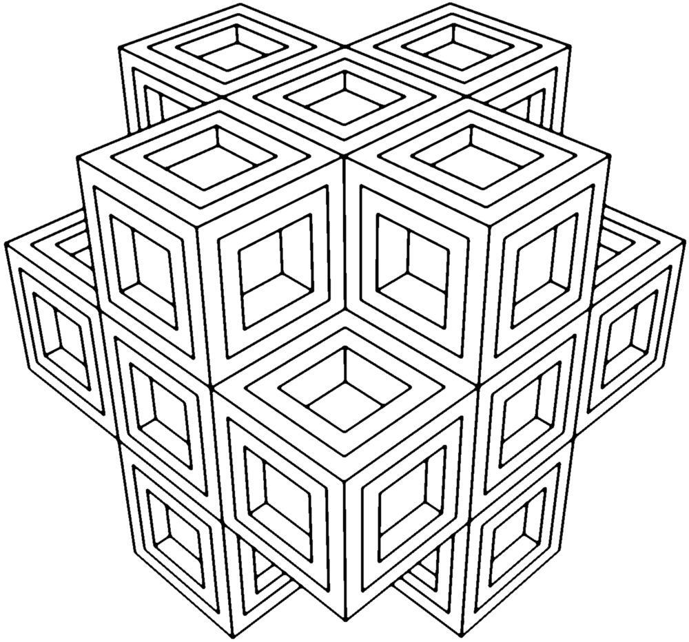 Geometric coloring pages for. Geometry clipart color shape