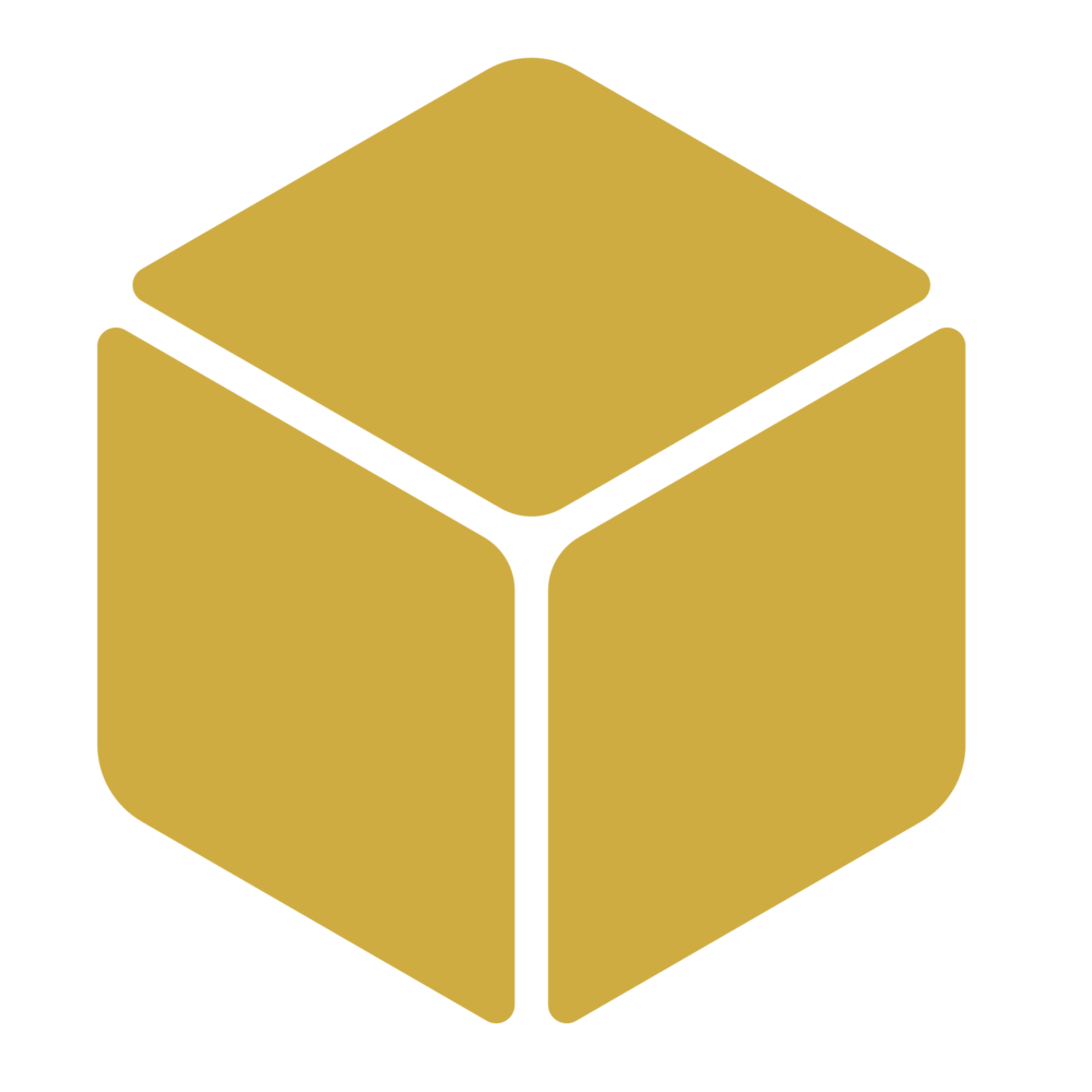 Mobile devices gold technology. Cube clipart connector