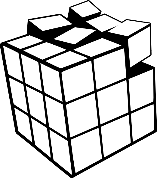 Rubiks tattoos tattoooo pinterest. Cube clipart cube shape