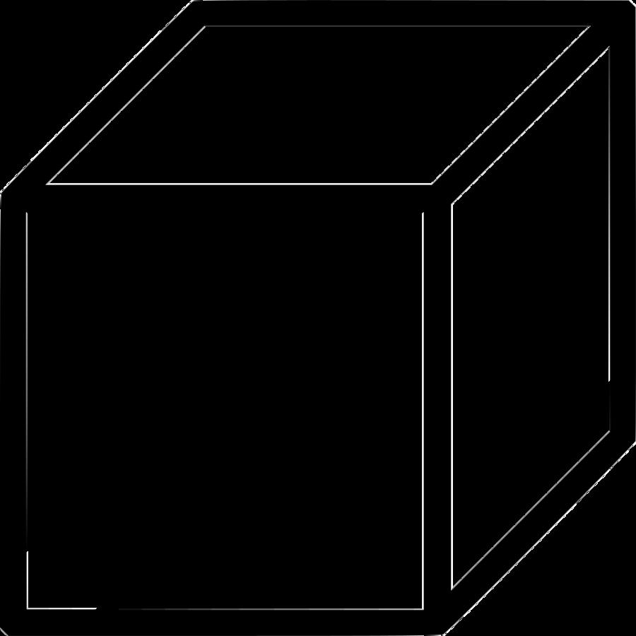 Cube clipart cube shape. Black line background white