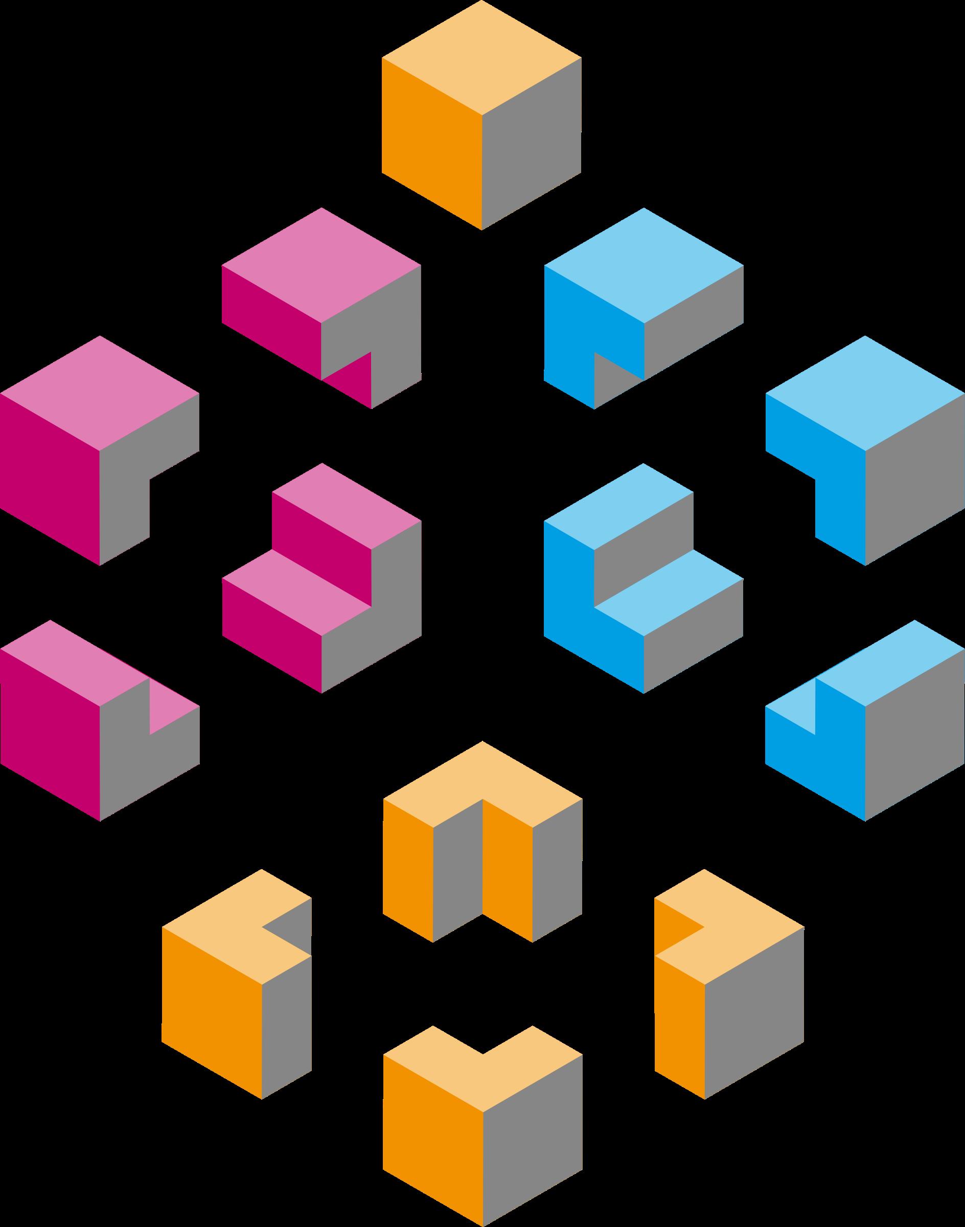 Cube clipart cube shape. Isometric shapes cubes big