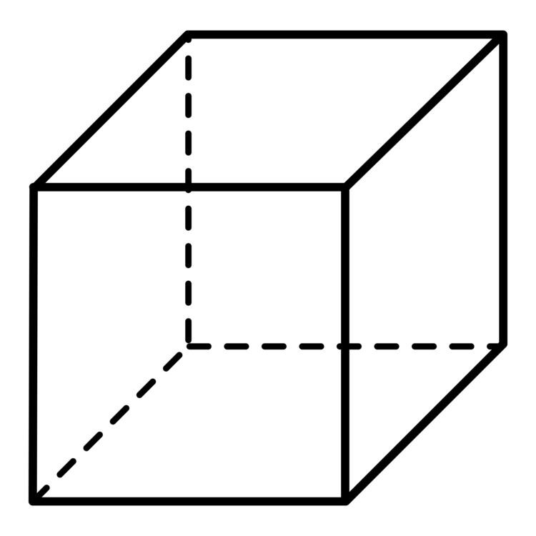 Square triangle symmetry png. Cube clipart dimensional