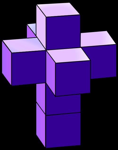 Cube clipart dimensional. File tesseract svg wikimedia