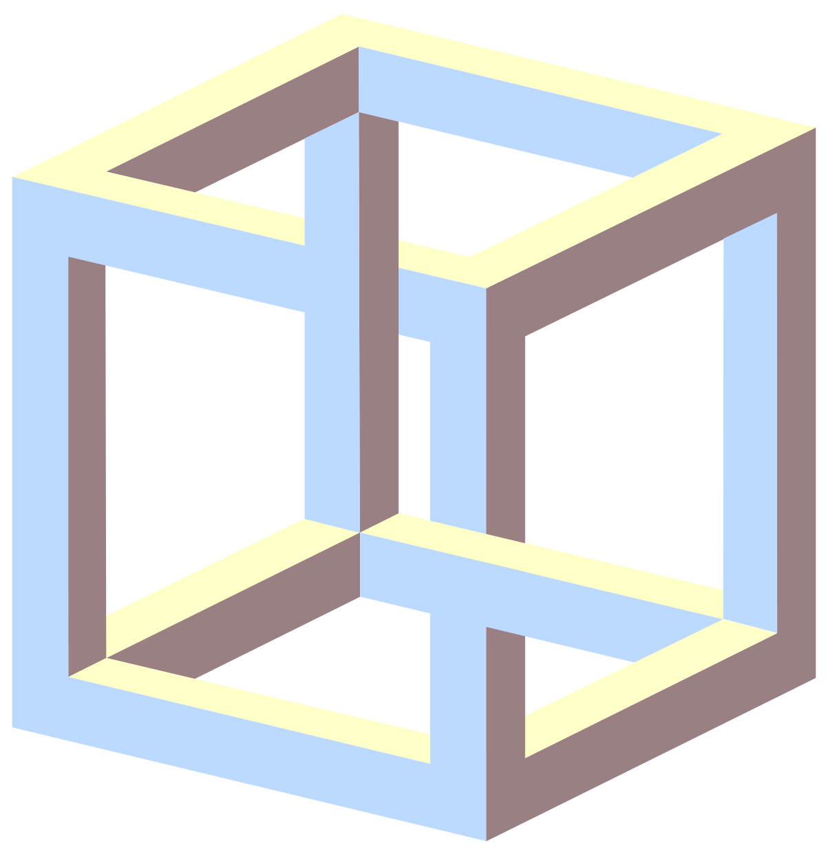 Impossible cube wikipedia . Square clipart solid