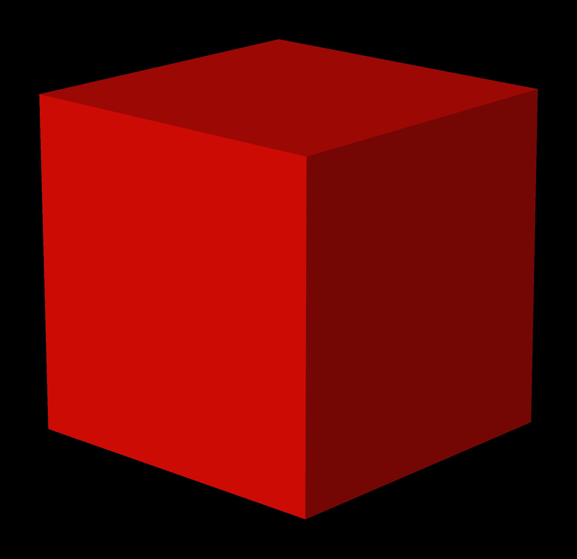 cube clipart dimensional