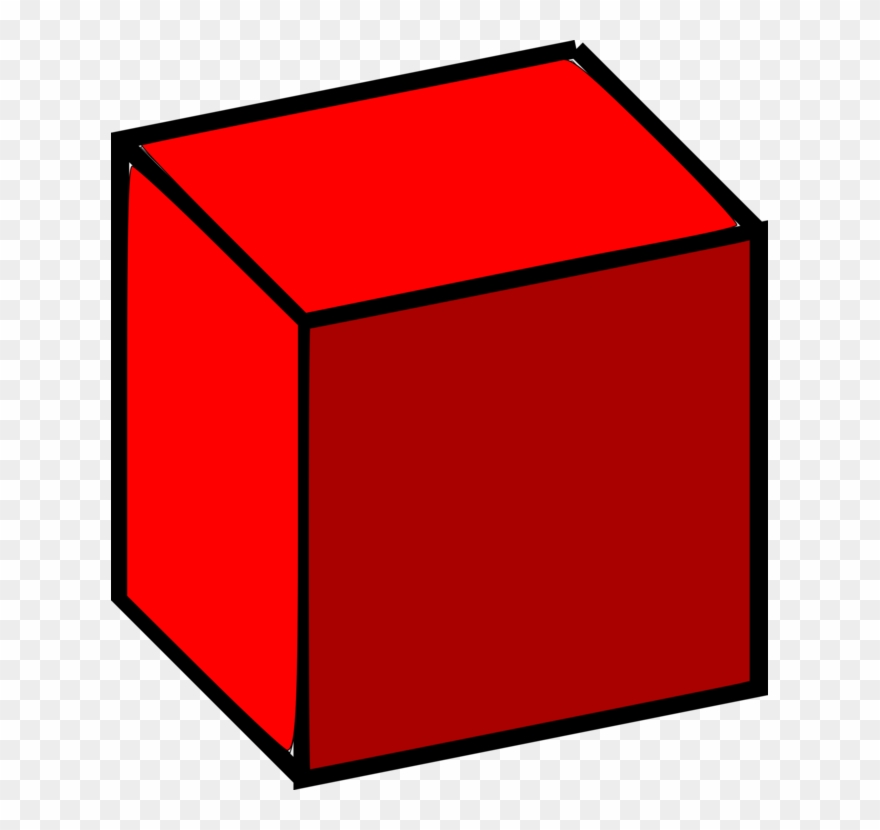 Three space computer icons. Cube clipart dimensional