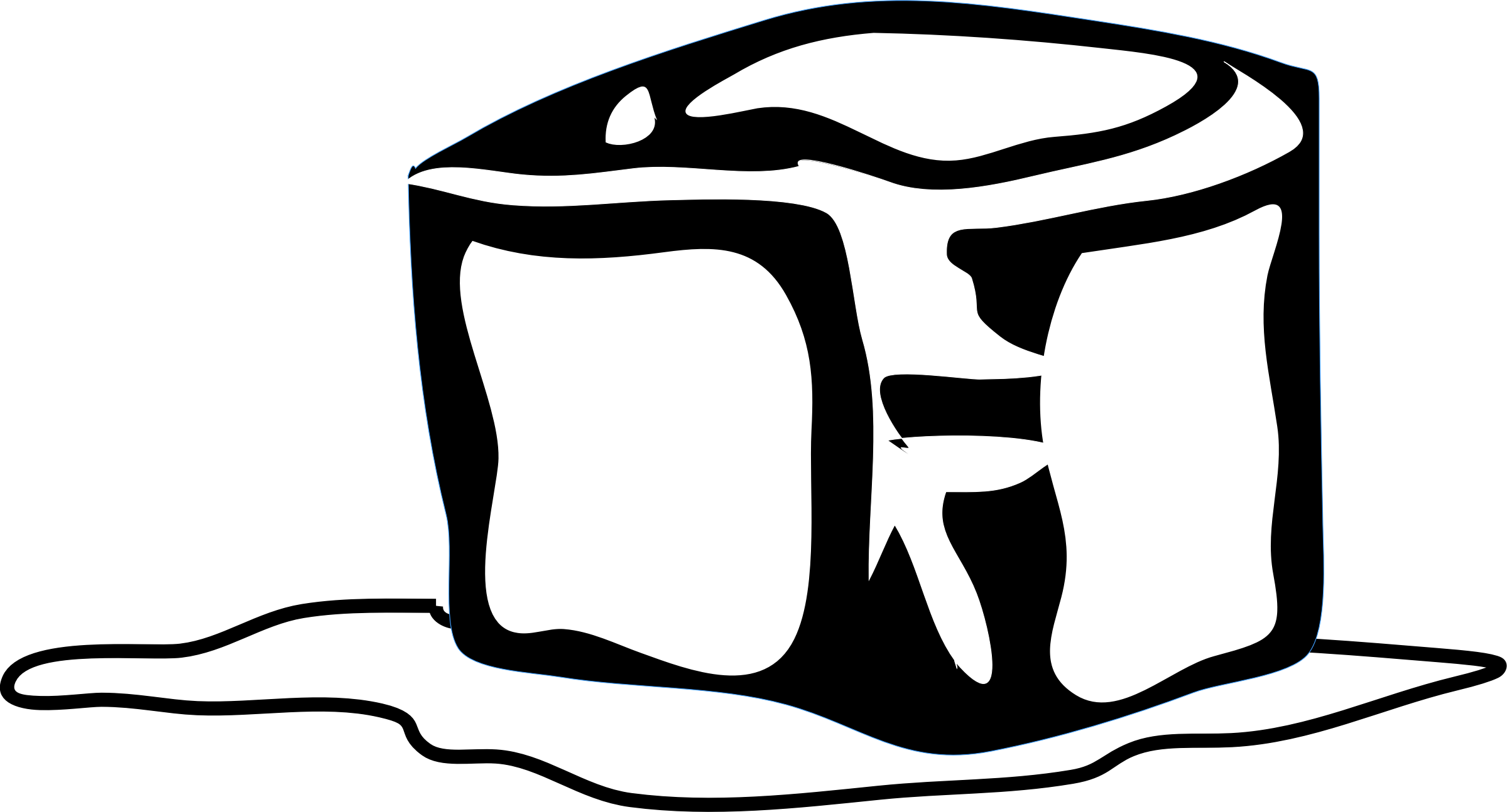 Cube clipart drawing. Ice cubes black and