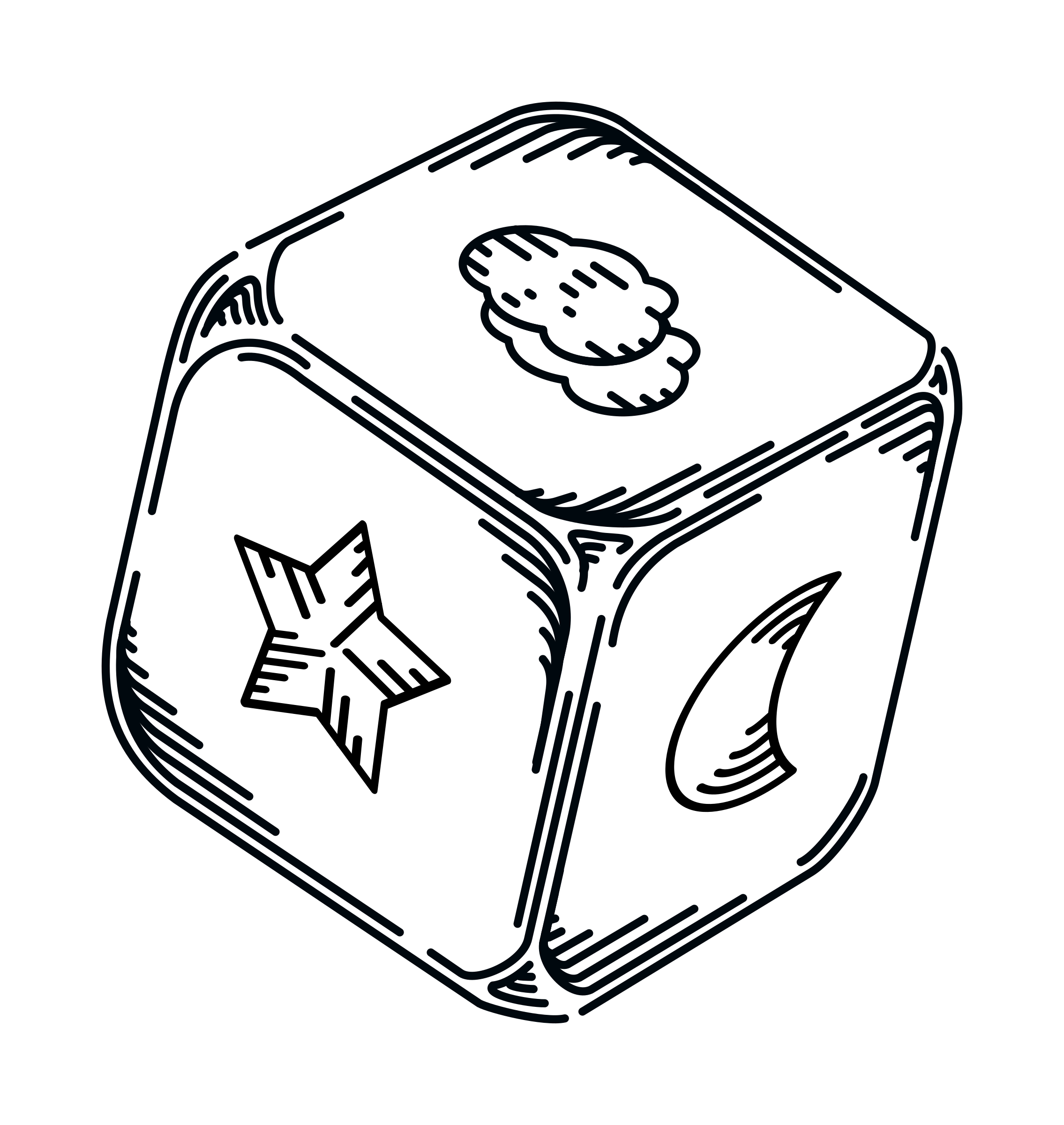 Outlines big image png. Cube clipart drawing