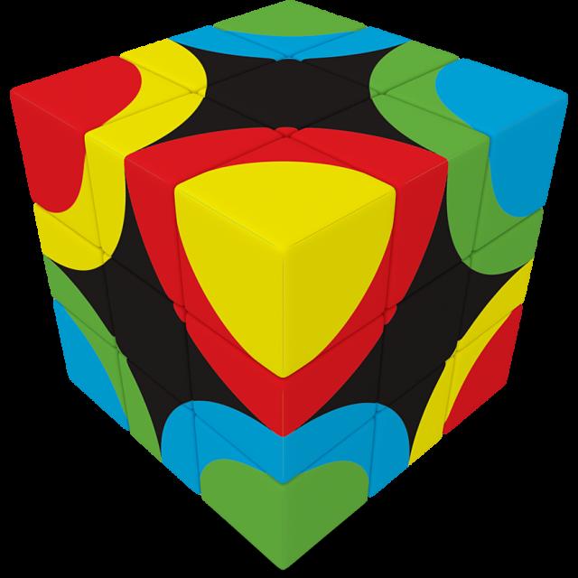 V flat x circles. Cube clipart foam block