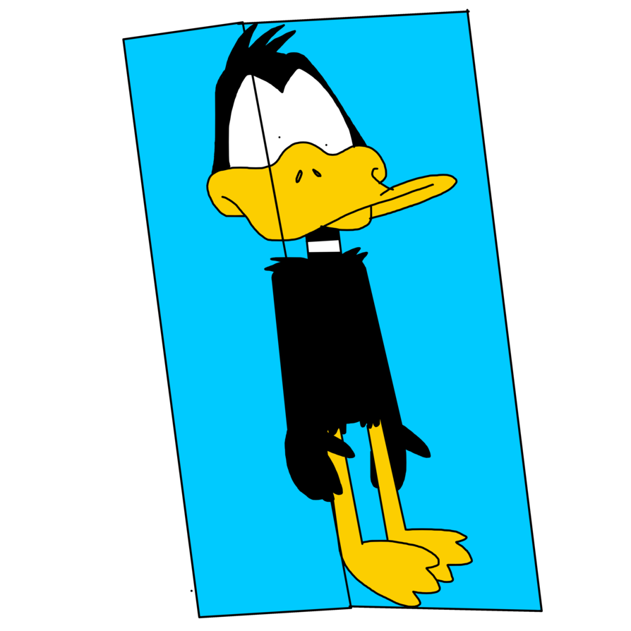 Cube clipart frozen. Daffy duck on ice