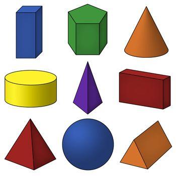 d shapes clip. Geometry clipart 3d shape