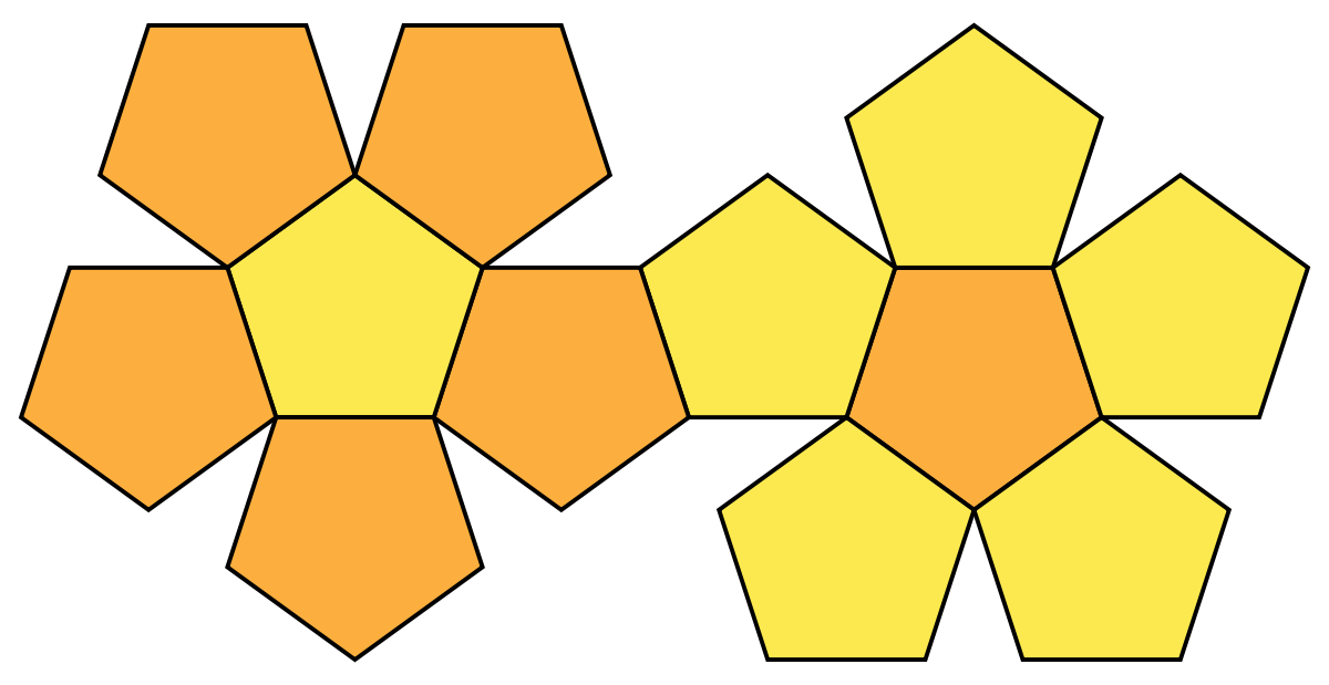 Geometry clipart solid figure. Net polyhedron wikipedia