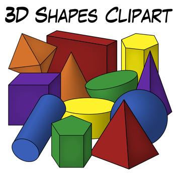 d shapes clip. Geometry clipart solid figure