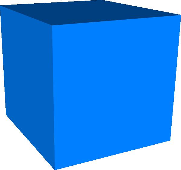 Square clipart blue square. Cube clip art at