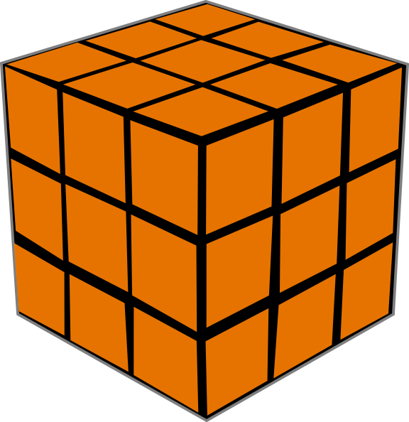Square clipart orange. Olap cube clip art