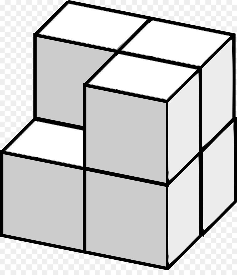 Top d clip library. Cube clipart line art