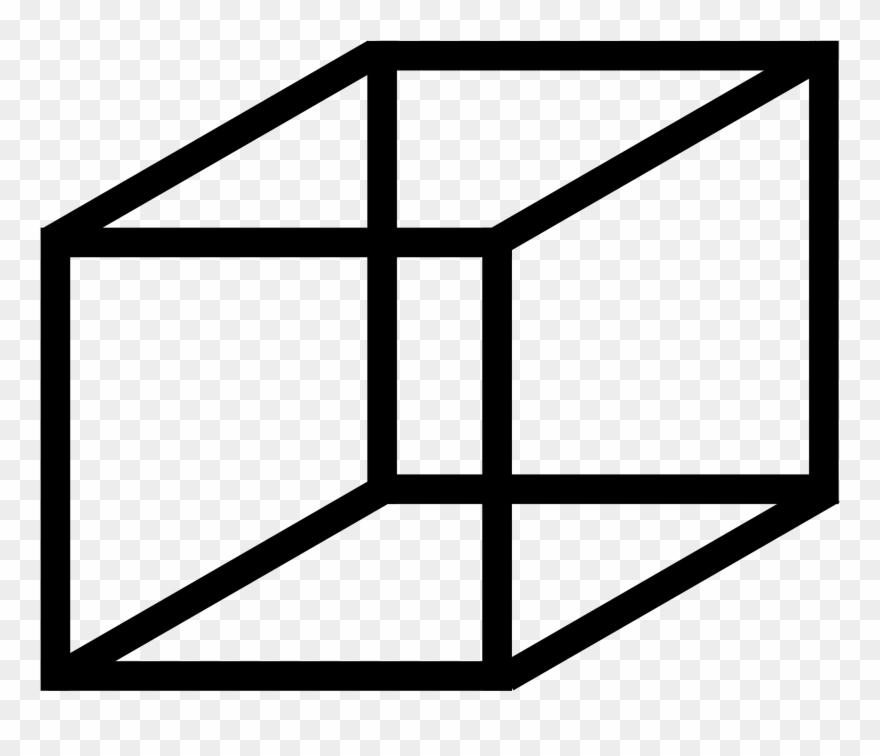 Cube clipart line art. Mcol necker clip boyutlu