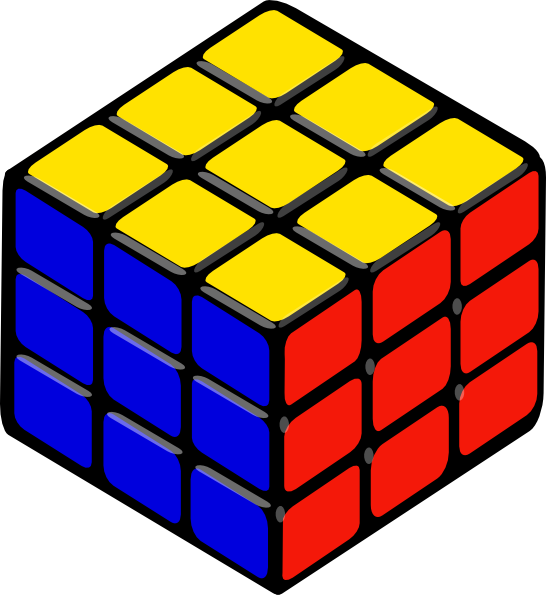 Rubics clip art at. Cube clipart marbles