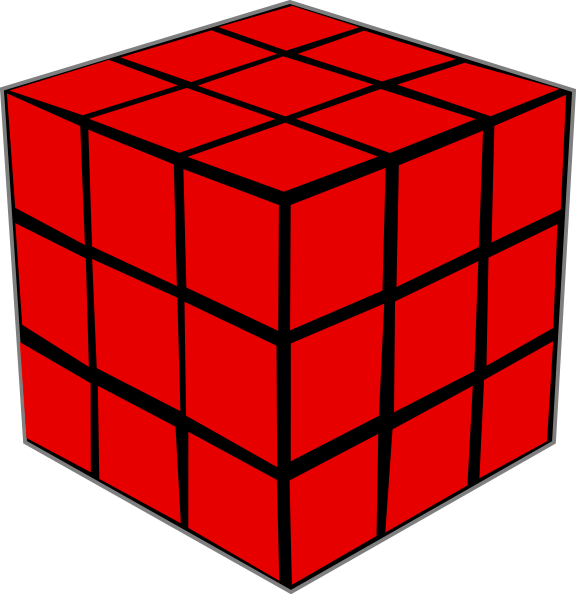 Olap cube clip art. Hexagon clipart red