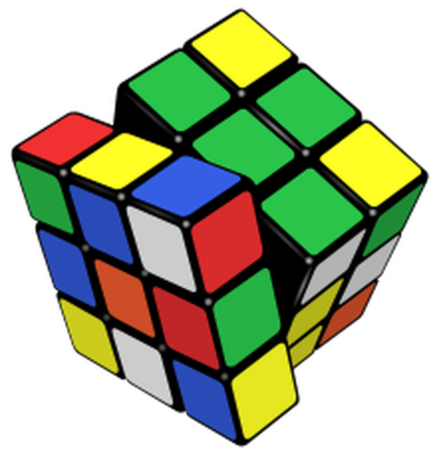 Solved moves or less. Cube clipart math counter