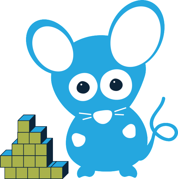 Meet max modeling mouse. Cube clipart math counter